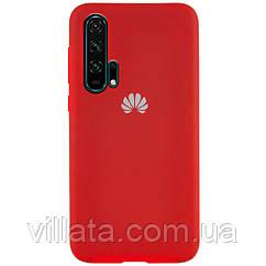 Чехол Silicone Cover Full Protective (AA) для Huawei Honor 20 Pro Красный / Red