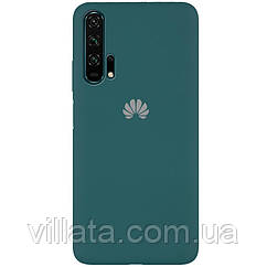 Чехол Silicone Cover Full Protective (AA) для Huawei Honor 20 Pro Зеленый / Pine green