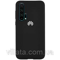 Чехол Silicone Cover Full Protective (AA) для Huawei Honor 20 Pro Черный / Black