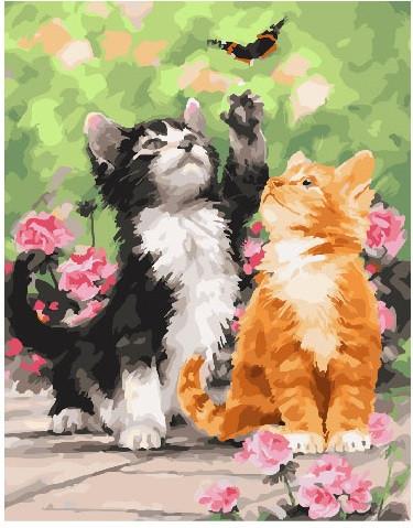 Картина по номерам 40х50 см Brushme Весенние котята (GX 25640)