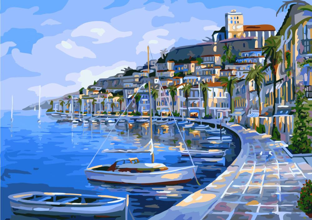 Картина по номерам 40х50 см Brushme Лодочная гавань (G 293)