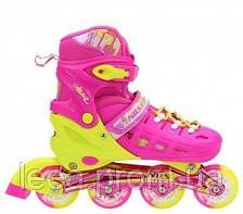 Роликовые коньки Nils Extreme розовые Size 39-42 NA1005A SKL41-227275