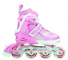 Роликовые коньки Nils Extreme розовые Size 39-42 NA1123A SKL41-227278