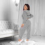 Женская пижама, махра, р-р универсальный 42-48 (меланж), фото 2