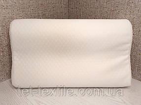 Ортопедическая подушка с эффектом памяти 50х30х9/7см.
