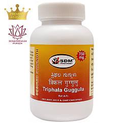 Трифала Гуггул (Triphala Guggulu, SDM), 100 таблеток - Аюрведа премум класса