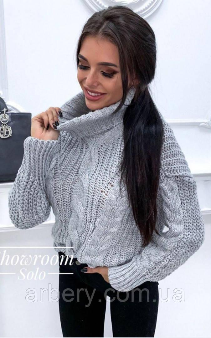 Шикарный свитер с обьемной вязки