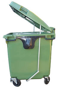 Sulo пластиковый контейнер для мусора 1100 литров с педалью