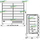 Гірка холодильна AURA 2,5 з вбудованим агрегатом, фото 5