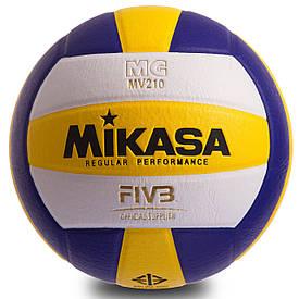 Мяч волейбольный Клееный PU MIK (MV-210 ) VB-0017