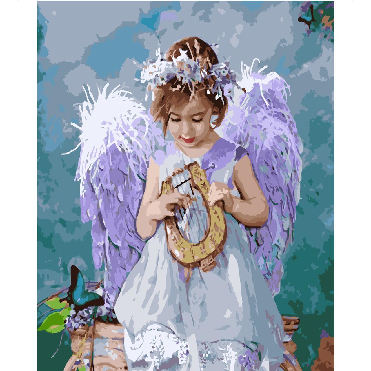 Картина по номерам VA-1982 Девочка ангел, 40х50 см Strateg