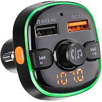 Авто музыка с FM Modulator Gelius Pro RGB-QC GP-FMT050