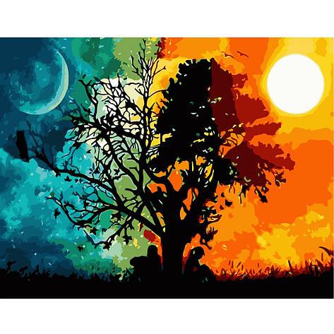 Картина по номерам VA-1854 День и ночь, 40х50 см Strateg, фото 2