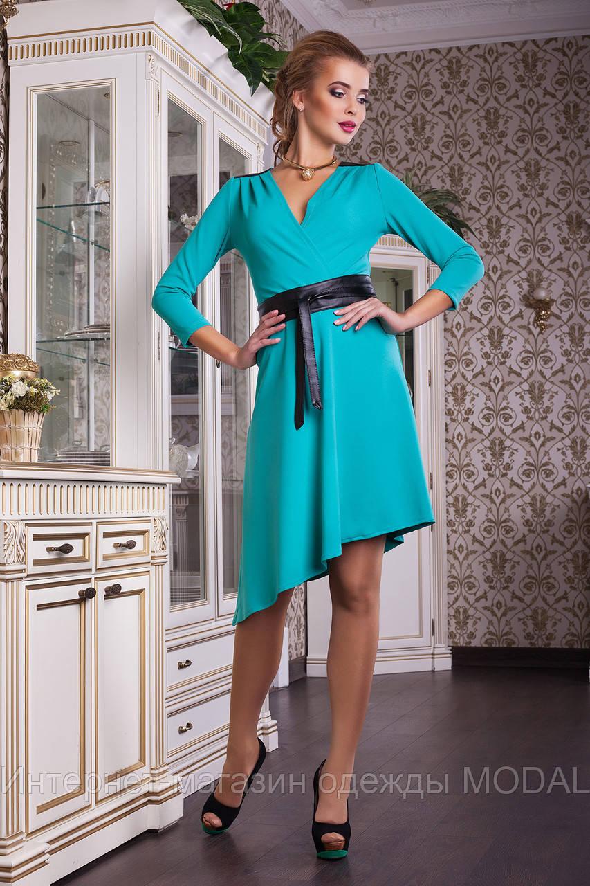 Платье со скошенной юбкой