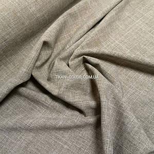 Костюмна тканина габардин льон бежевий