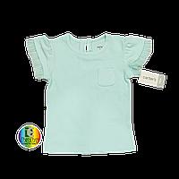 Футболка для девочки хлопковая мятного (голубого) цвета Carter's