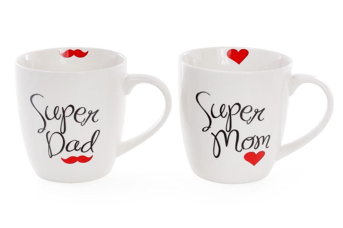 Кружка порцелянова. Супер папа и Супер мама.