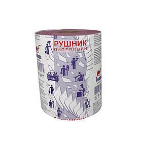 Рушники паперові рулонні з тисненням і перфорацією на гільзі d = 45, рожеві