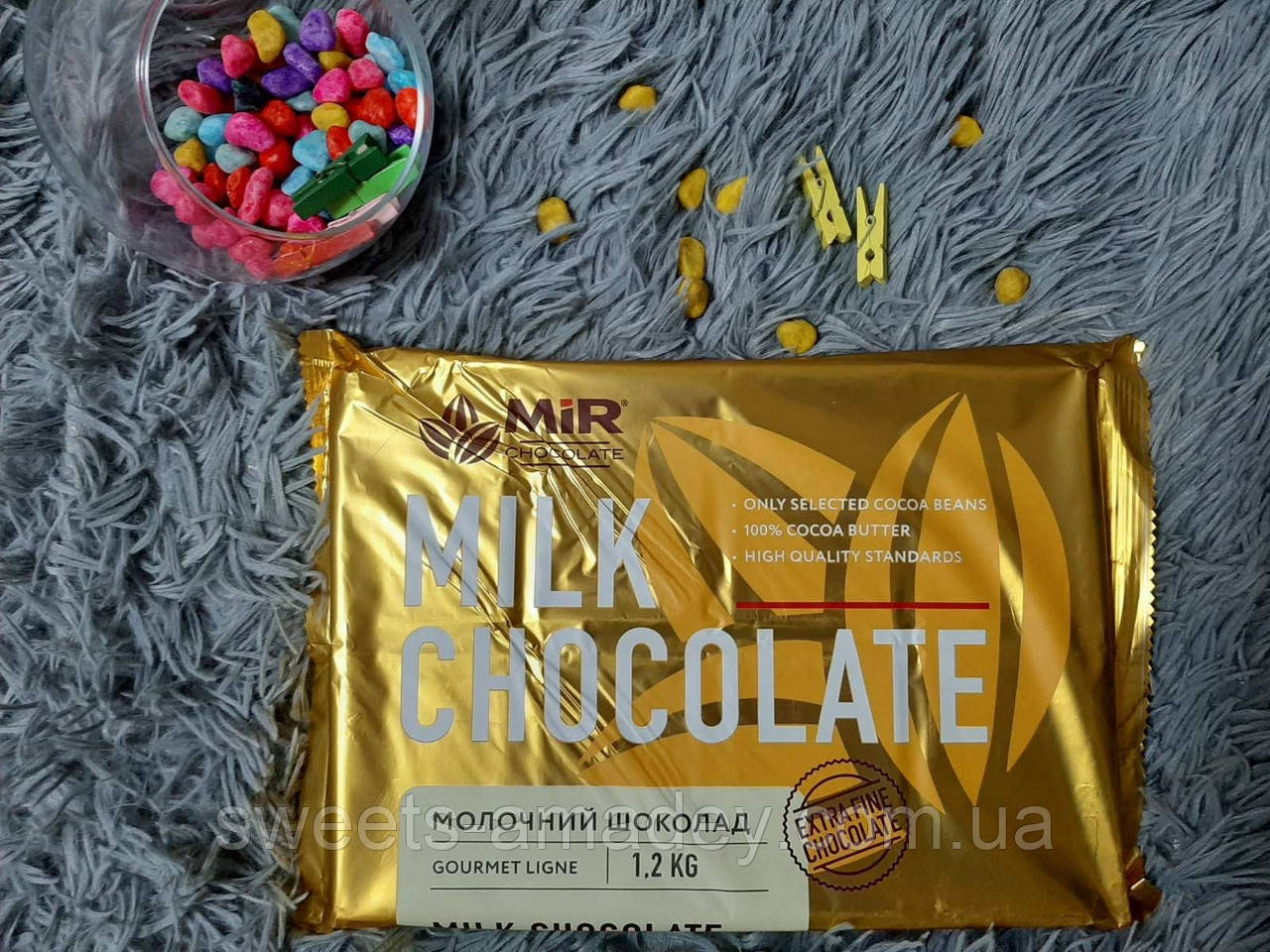 "Натуральный шоколад ( молочный  ) 1.2 КГ, ТМ ""MIR"""