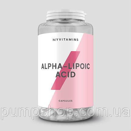 Альфа-ліпоєва кислота Myprotein Myvitamins Alpha Lipoic Acid 500 мг 60 капс., фото 2