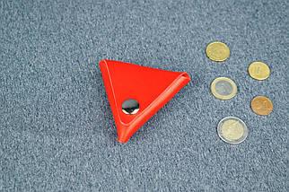 Шкіряна монетниця, Шкіра Італійський краст, колір Червоний, фото 2