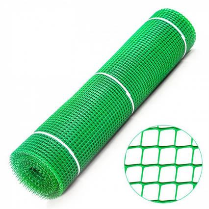 Сітка садова СР-15 (1м*20м, яч.15*15мм), сітка для пташників, зелена
