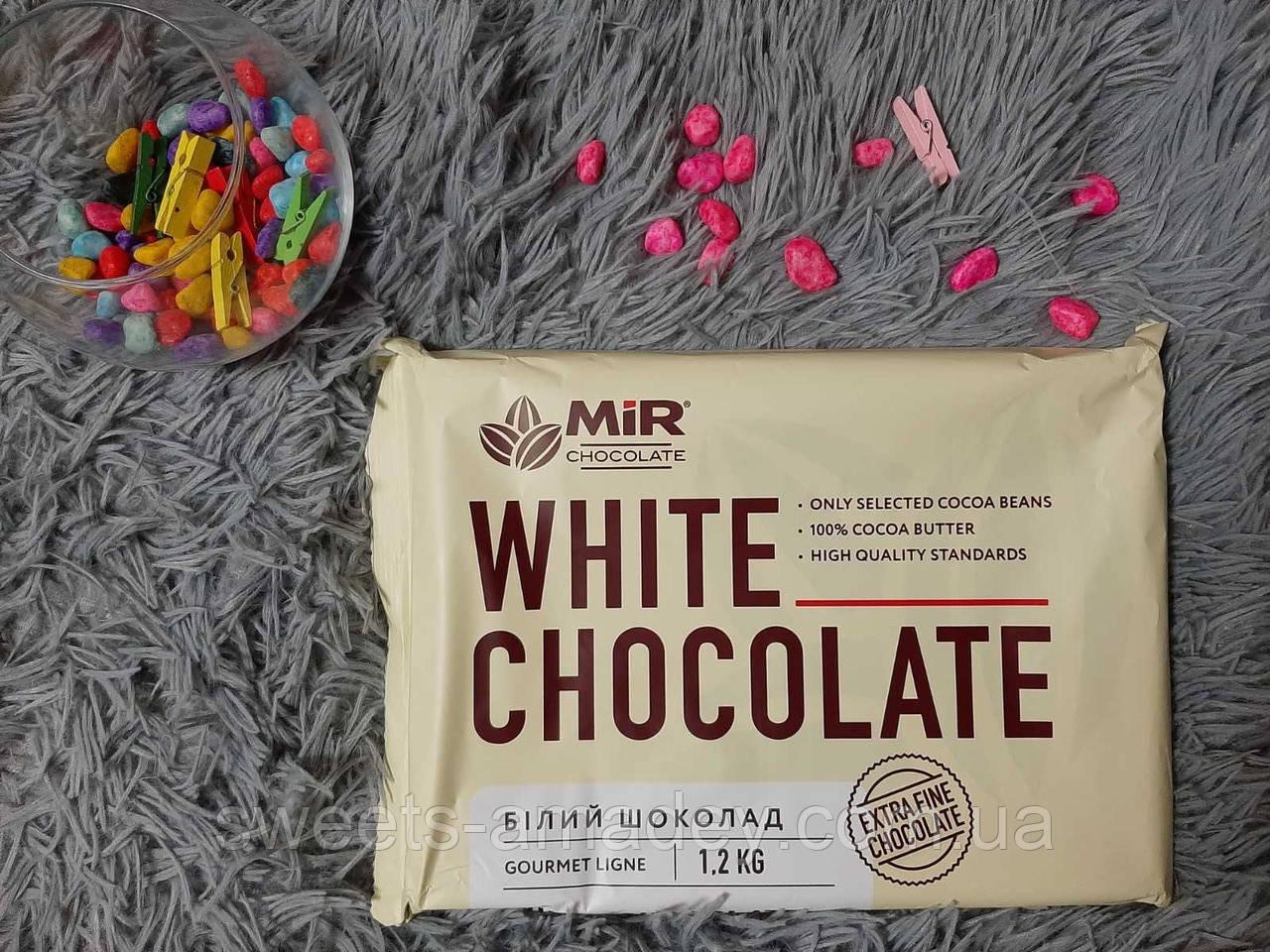 "Натуральный шоколад ( белый ) 1.2 КГ, ТМ ""MIR"""