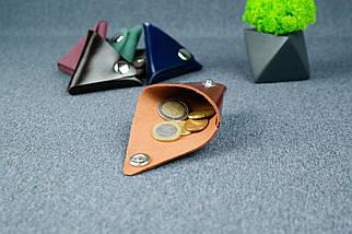 Шкіряна монетниця, Шкіра Пуллап, колір Коньяк, фото 2