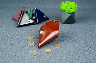 Кожаная монетница, Кожа Пуллап, цвет Коньяк, фото 3