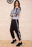 Спорт костюм женский 103R161 цвет Серо-черный, фото 2