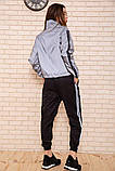 Спорт костюм женский 103R161 цвет Серо-черный, фото 3