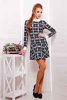 Платье в клетку с длинным рукавом Элис , фото 1