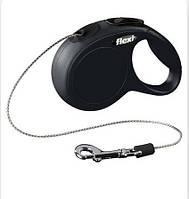 Поводок-рулетка Flexi New CLASSIC 5м до 12кг чорна (TX-11781)