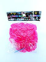 Резинки для плетения браслетов розовые 600шт