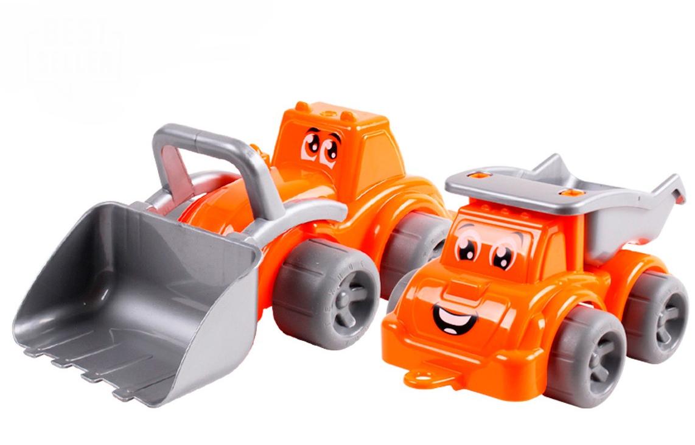 Игрушка машинка Стройплощадка (трактор+самосвал)