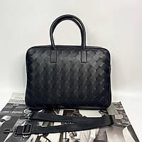 Мужской плетённый деловой портфель для документов Bottega Veneta Боттега Венета реплика