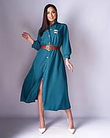 """Платье с поясом  для пышных дам """"Костюмка""""  Dress Code, фото 1"""