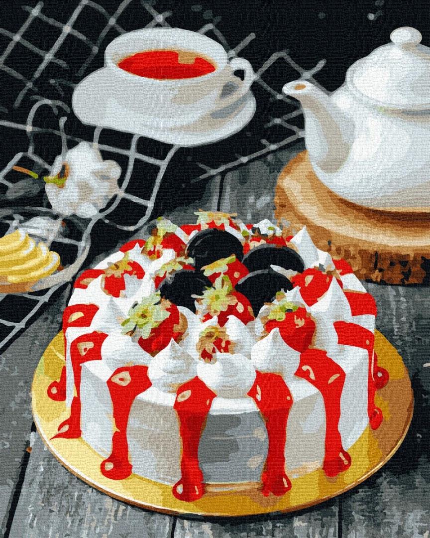 Картина по номерам 40х50 см Brushme Апетитный тортик (GX 37553)