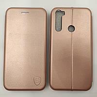 Чехол книжка для Xiaomi Redmi Note 8T Baseus Premium Edge телефона с магнитом Розовое золото