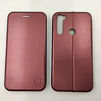 Чехол книжка для Xiaomi Redmi Note 8T Baseus Premium Edge телефона с магнитом Бордовый