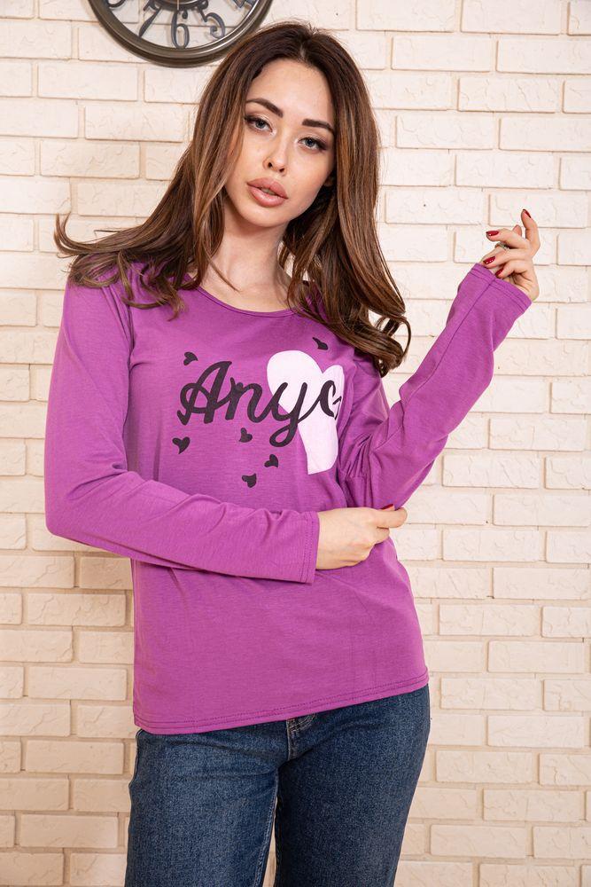 Батник женский 131R23009-1 цвет Светло-фиолетовый