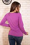 Батник женский 131R23009-1 цвет Светло-фиолетовый, фото 4