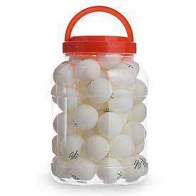Набір м'ячів для настільного тенісу 60 штук в пластиковій банці WEINIXUN W92
