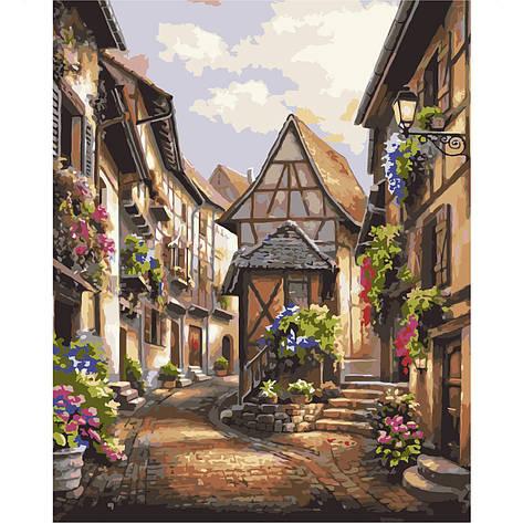 Картина по номерам VA-0465 Европейское село, 40х50см Strateg, фото 2