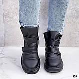 Жіночі кросівки - хайтопы чорні ДЕМІ еко шкіра, фото 7