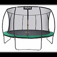 Батут Atleto 183 см с внутренней сеткой зеленый