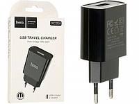 Сетевое зарядное устройство HOCO DC20A 1 USB 2.1A (черный)