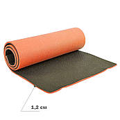Толстый коврик туристический (каремат) двуслойный 12 мм (коврик туриста)  Коврик кемпинговый