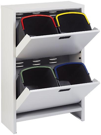Шкаф для сортировки мусора Mobil Plastic 100/4-GR