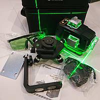 ОТКАЛИБРОВАН! НОВИНКА 2021 ЗЕЛЁНЫЙ ЛУЧ 50м Лазерный ударопрочный нивелир DEKO 3D green